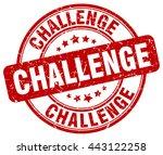 challenge. stamp   Shutterstock .eps vector #443122258