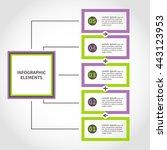 timeline infographics vector... | Shutterstock .eps vector #443123953