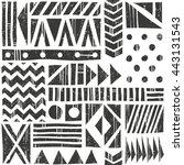 vector seamless tribal pattern. ... | Shutterstock .eps vector #443131543