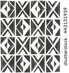 vector geometric seamless... | Shutterstock .eps vector #443131939