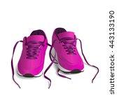 pink sport shoes. running shoe  ... | Shutterstock .eps vector #443133190