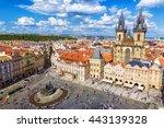 town square in prague prague ... | Shutterstock . vector #443139328