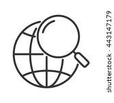 earth under magnifying glass.... | Shutterstock .eps vector #443147179