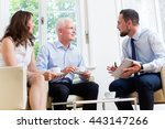 financial advisor consulting... | Shutterstock . vector #443147266