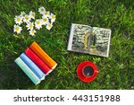 Stack Of Multicolored Books On...