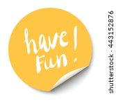 vector orange circle sticker... | Shutterstock .eps vector #443152876