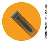 safety razor icon. flat color...