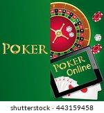 vector poker background with... | Shutterstock .eps vector #443159458