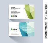 vector business card template...   Shutterstock .eps vector #443160100