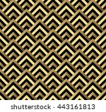seamless black and gold square... | Shutterstock . vector #443161813