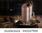 chocolate cookie milkshake in... | Shutterstock . vector #443167900