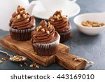 chocolate caramel cupcake with...