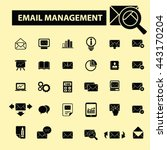 email management icons | Shutterstock .eps vector #443170204