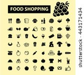 food shopping icons | Shutterstock .eps vector #443171434