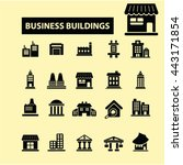 business buildings icons | Shutterstock .eps vector #443171854