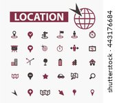 location icons   Shutterstock .eps vector #443176684