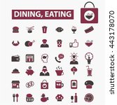 dining eating icons | Shutterstock .eps vector #443178070