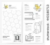 business brochure flyer design... | Shutterstock .eps vector #443180713