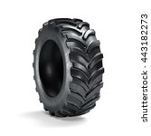 Tractor Tyre Isolated On White...