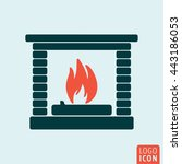 fire icon isolated. fireplace...