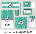 set of corporate identity... | Shutterstock .eps vector #443194630
