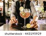 expert barman is making... | Shutterstock . vector #443195929