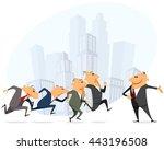 vector illustration of a many... | Shutterstock .eps vector #443196508