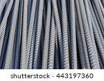steel bars close  up background. | Shutterstock . vector #443197360