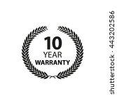 10 year warranty label flat icon | Shutterstock .eps vector #443202586