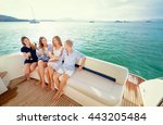 friendship and vacation. party... | Shutterstock . vector #443205484