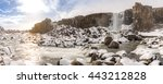 oxararfoss waterfall in the...   Shutterstock . vector #443212828