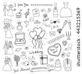 wedding set | Shutterstock .eps vector #443215369