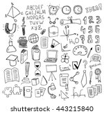 education objects | Shutterstock .eps vector #443215840