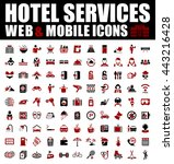 hotel icons | Shutterstock .eps vector #443216428