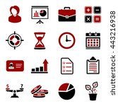 business icons | Shutterstock .eps vector #443216938