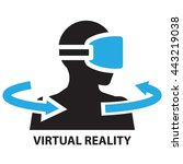 virtual reality  icon and symbol | Shutterstock .eps vector #443219038