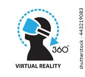 virtual reality  icon and symbol | Shutterstock .eps vector #443219083