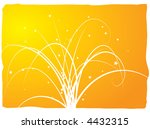 floral abstract design with... | Shutterstock .eps vector #4432315