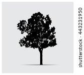vector tree silhouettes | Shutterstock .eps vector #443231950