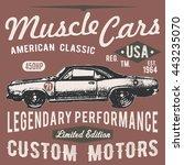 t shirt typography design ...   Shutterstock . vector #443235070