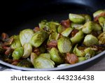 Closeup Of Roasted Brussel...