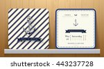 vintage nautical anchors... | Shutterstock .eps vector #443237728