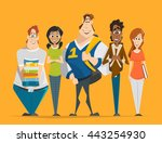 vector character illustration... | Shutterstock .eps vector #443254930