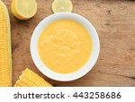 corn soup | Shutterstock . vector #443258686