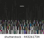 glitched lines and colorful... | Shutterstock .eps vector #443261734