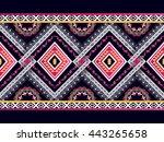 oriental ethnic pattern... | Shutterstock .eps vector #443265658