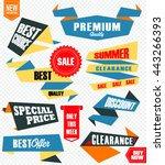 set of retro labels and banners ... | Shutterstock .eps vector #443266393