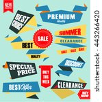 set of retro labels and banners ... | Shutterstock .eps vector #443266420