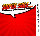 sale comic speech . bubble... | Shutterstock .eps vector #443266978