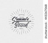summer beach   sign  sticker ... | Shutterstock .eps vector #443267068